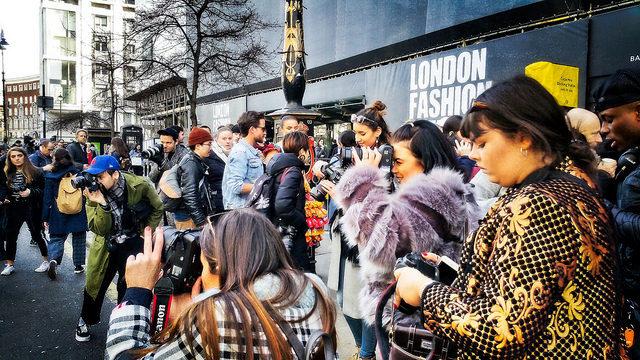 Photographers at London Fashion Week
